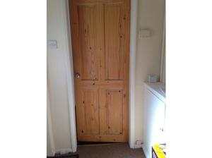 Two Pine Interior Doors with Furniture in Stockport