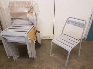 6x Metal Grey Chairs Kitchen/Dining/Garden BRAND NEW High Quality!! £ EACH