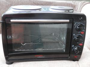 Cooks professional mini oven/grill with two hotlplates