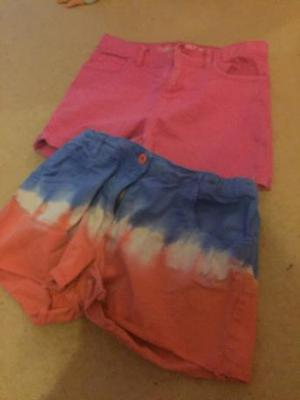 2 pairs of shorts both sizes 10 to 11