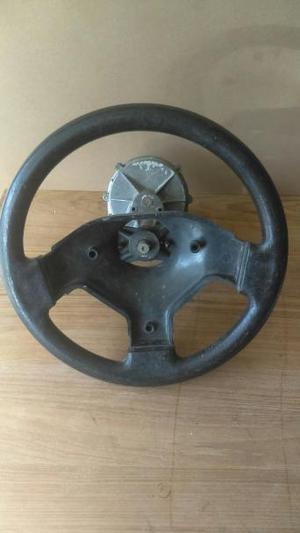 Boat steering helm and wheel