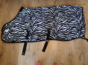 Brand new zebra fleece rug 5ft6