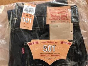 Levi 501 jeans 34w 30l Straight Leg - brand new, sealed bag!