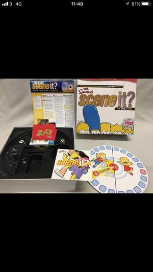 Scene It! The Simpsons Game - Deluxe edition - Complete, Excellent condition