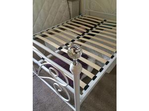 White metal double bed base in Bradford