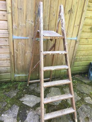 wooden decorators ladder for sale