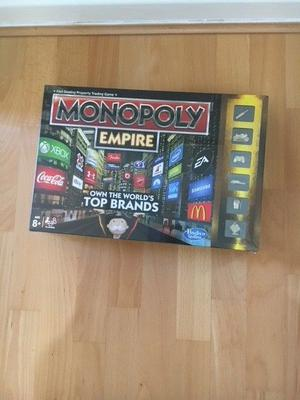 Brand new, still in wrapper. Monopoly Empire boardgame