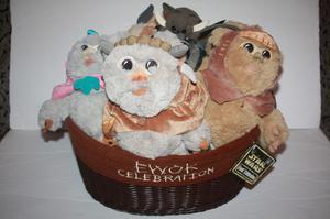 "Disney 9"" Star Wars Ewok Celebration Basket Limited Edition"