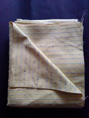 Furnishing fabric- yellow striped - natural fibres