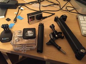 GoPro Hero 4 Black in good condition with case, charger and memory card. £160