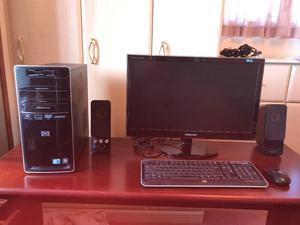 "HP Computer, 24"" Samsung Monitor, Creative Speakers"