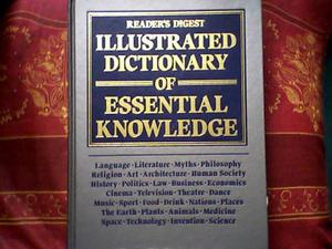 ILLUSTRATED DICTIONARY OF ESSENTIAL KNOWLEDGE - 1st EDITION  - VINTAGE