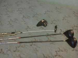 Mizuno MP A302 putter and two Taylormade drivers