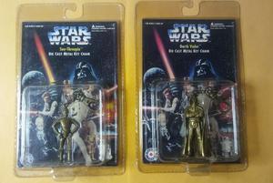 NEW Vintage  Star Wars DARTH VADER + C3PO Die Cast Metal