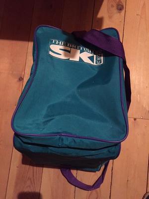 Ski boot bag, British Ski centre, as new condition