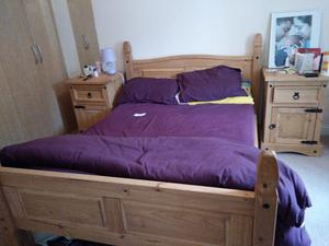 Standard wooden double bed
