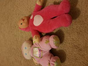 2 first dolls. Including little baby born