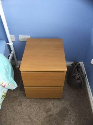 2 x ikea beach beside drawers