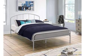 Brand NEW double metal bed frame, silver finish