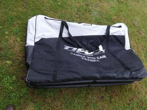 Tifosi Bike Bag, padded, size XL - approx 135 cm x 95 cm with wheelcovers, trolleywheels