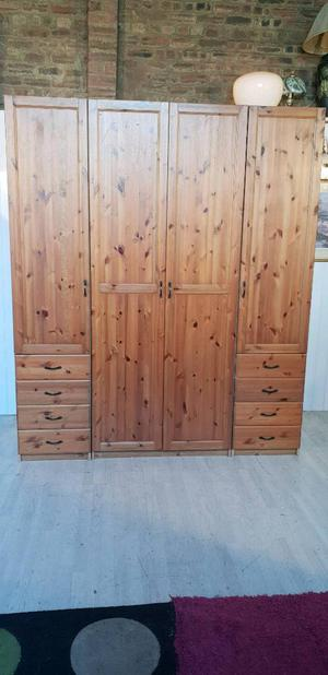 Lark Ikea Solid Pine and Pine Veneer Wardrobe