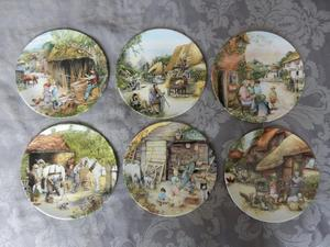 6 x Old Country Craft Plates by Royal Doulton