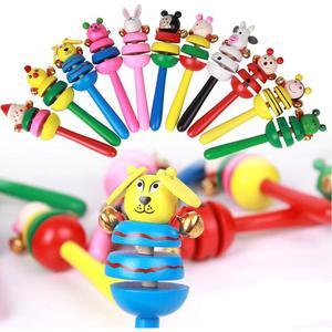 Animal Rattle Baby Kids Handbells Musical Developmental