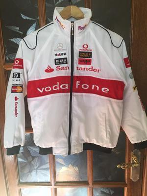 Boys 'LEWIS HAMILTON' Formula 1 Mercedes Benz Sports Jacket Size 34 White