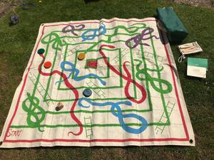 Jacques of London traditional outdoor giant snakes and ladders set