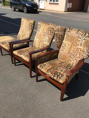 Parker Knoll Chairs - one wingback, two normal - for sale individually or as a set