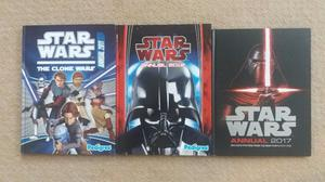 3 X Star Wars Annuals Books USED... Clone Wars , Star Wars  & Star Wars  for all!