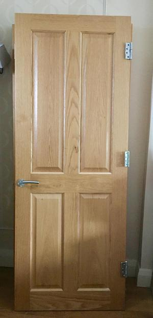 6x solid Oak 4 panel internal Doors