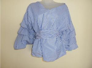 Flemenco Frilled Sleeved Wrap Blouse - one size (regular) in
