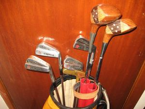 HALF SET OF MAX FAULKNER GOLF CLUBS IN VERY GOOD CONDITION