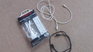 NEW HDMI, TV Aerial Coax Cables & NEW Hyundai 4 Gang 2 metre Extension Lead for Electric Appliances.