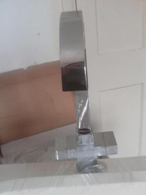 Brand new White bathroom sink with Brand new silver tap