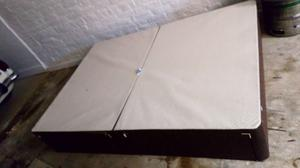 Double divan bed with two drawers and a mattress