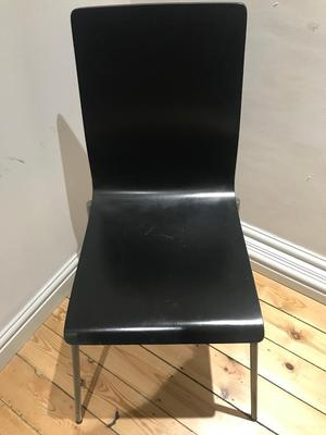Black wooden chair