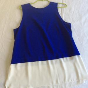 Blue and cream top by Roman