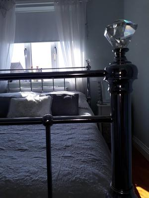 Chrome double bed
