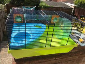 Hamster cage with wheel and tubes in Weston Super Mare