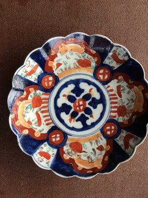 Large antique Chinese hand painted plate