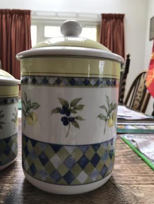 Royal doulton storage jars
