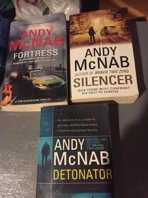 3 Andy McNab books