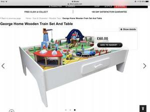 Asda wooden train table with tack/accessories