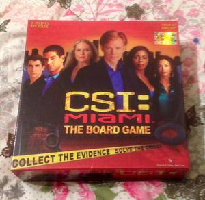 CSI MIAMI BOARD GAME BY SBG GAMES  EDITION. COMPLETE AND VGC.