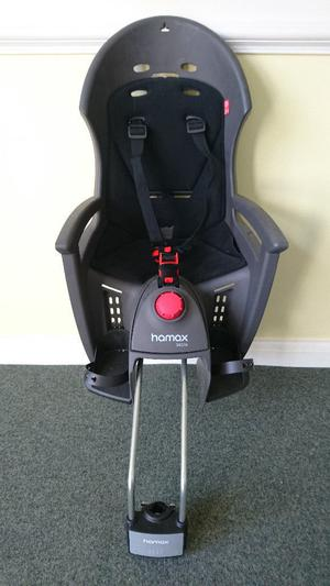 Hamax Siesta rear mount child bicycle seat with bracket.