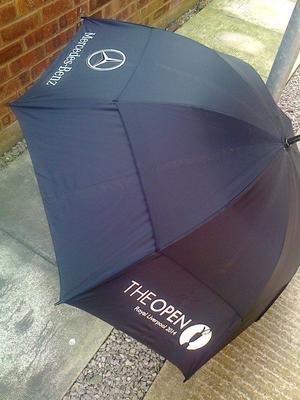 Mercedes Benz golf umbrella - The Open Royal Liverpool