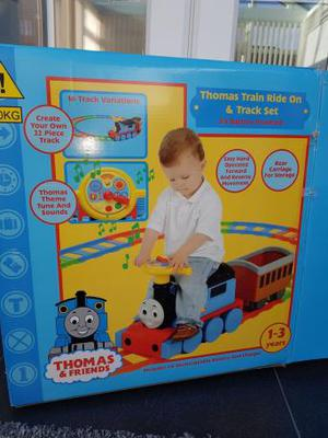 Thomas and Friends Ride On Train and 22 piece Track Set
