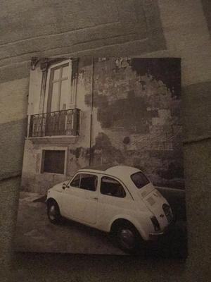 Fiat 500 Black and white print